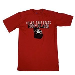 """Georgia Bulldogs Tee """"Color This State Red & Black"""